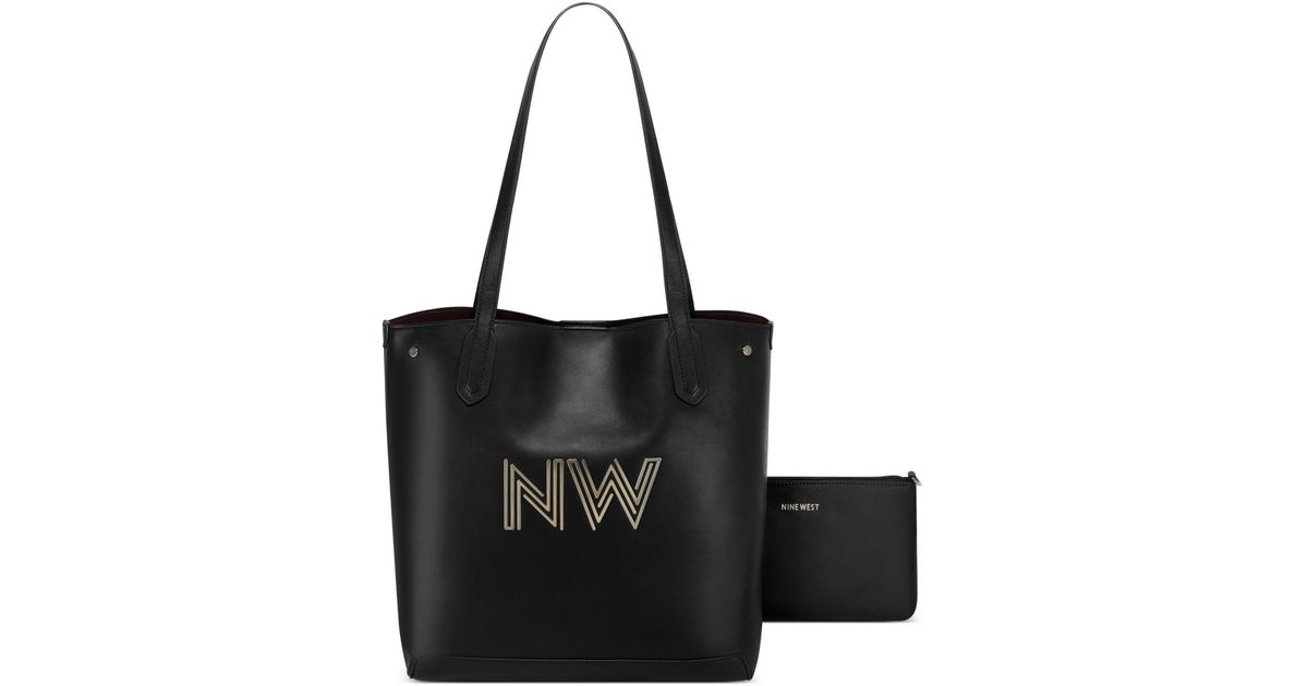 Details about  /Nine West Handbags Dacia 2 in 1 Large Tote in Black