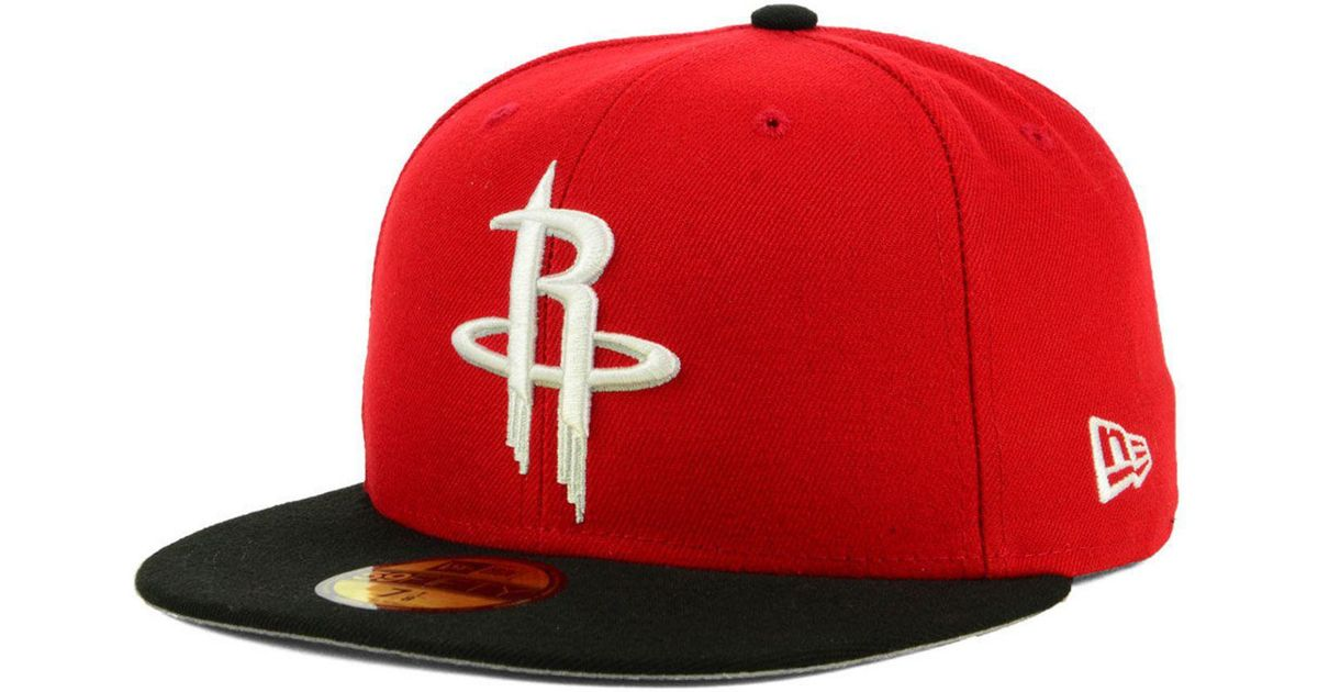 the best attitude bec9c ae24e Lyst - KTZ Houston Rockets Basic 2 Tone 59fifty Fitted Cap in Red for Men