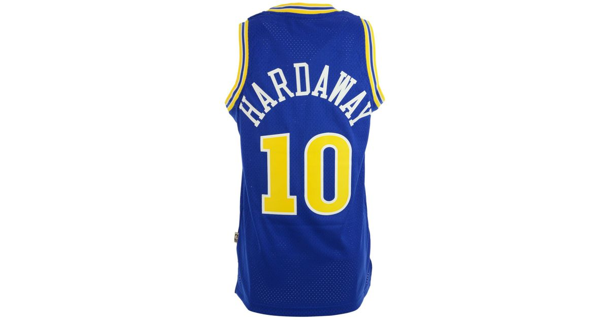 33b946ea9f6 adidas Tim Hardaway Golden State Warriors Swingman Jersey in Blue for Men -  Lyst