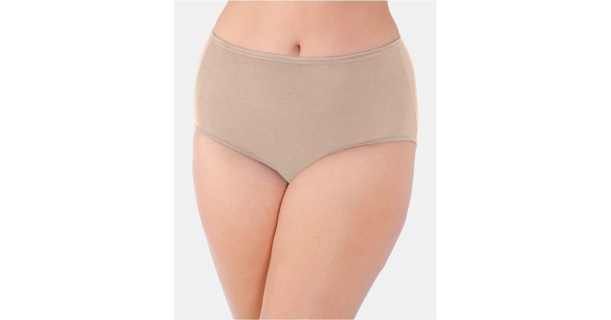 9f8aa6ee9e8 Lyst - Vanity Fair Women s Illumination® Plus Size Satin-trim Brief 13811  in Natural