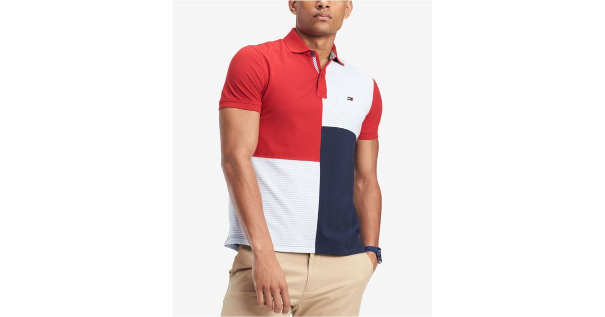 3fa9f3c1 Tommy Hilfiger Stevans Custom Fit Polo in Red for Men - Lyst