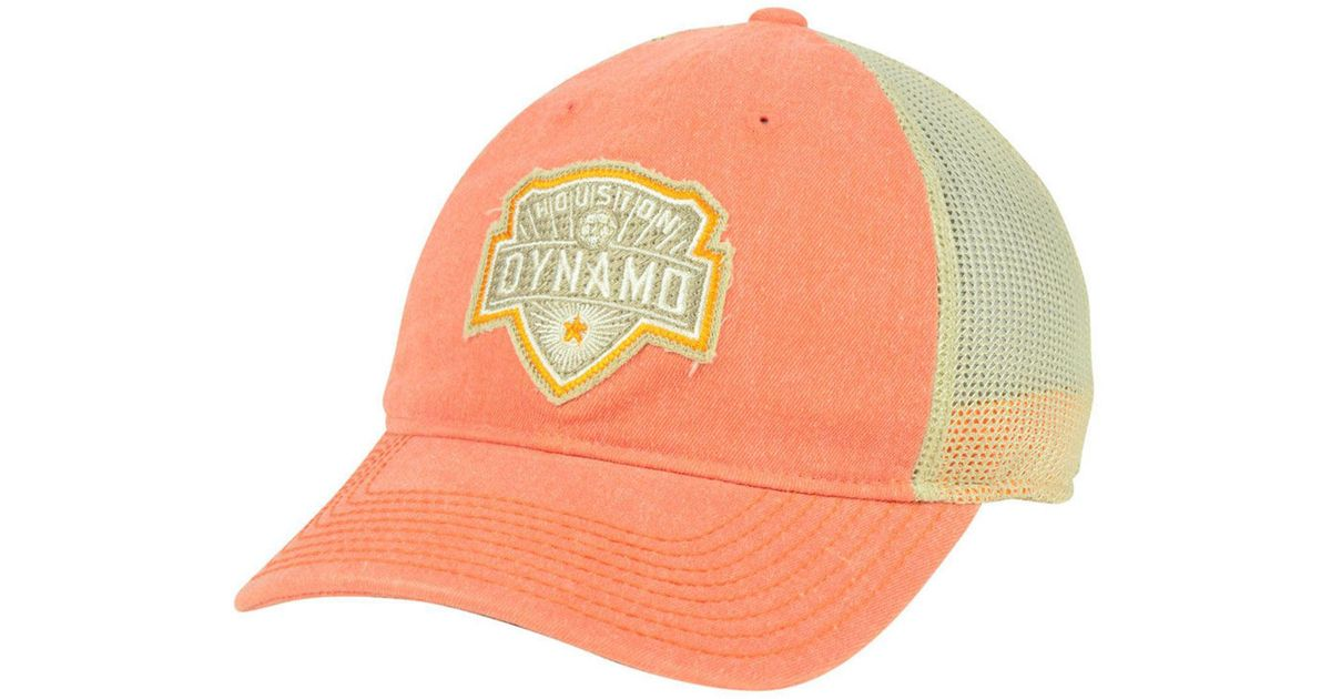 pretty nice e1538 80ce6 ... germany lyst adidas houston dynamo bleached trucker cap in orange ed358  9f7cc