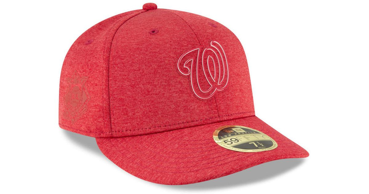 sports shoes 55bf9 65abc Lyst - KTZ Washington Nationals Clubhouse Low Crown 59fifty Fitted Cap in  Red for Men