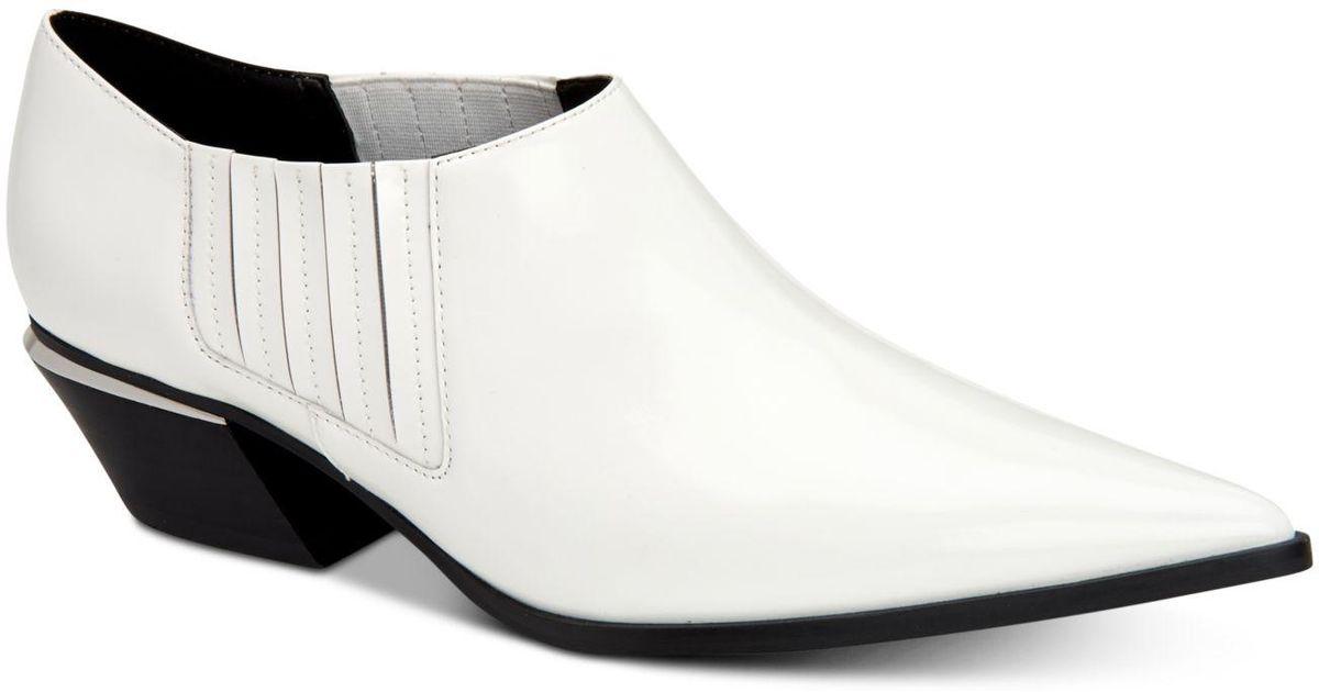 Calvin Klein Leather Neta Booties in