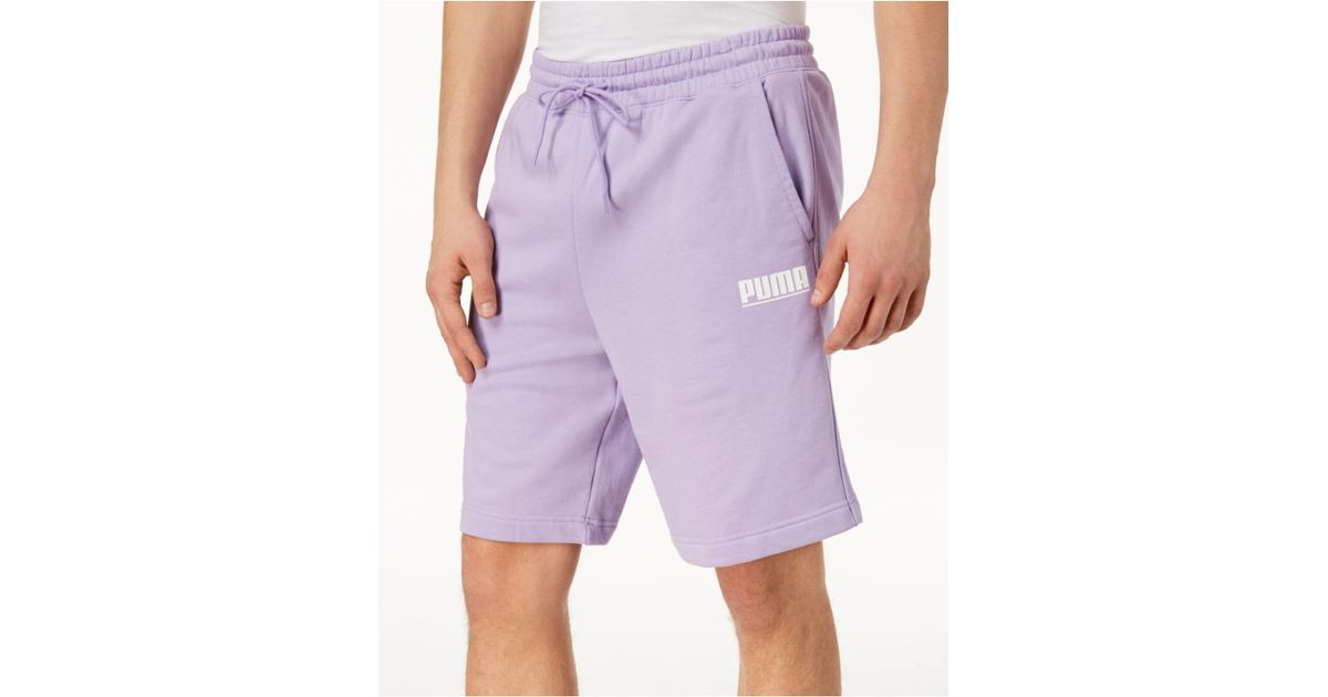 de926cb98da PUMA Logo Tower Shorts in Purple for Men - Lyst