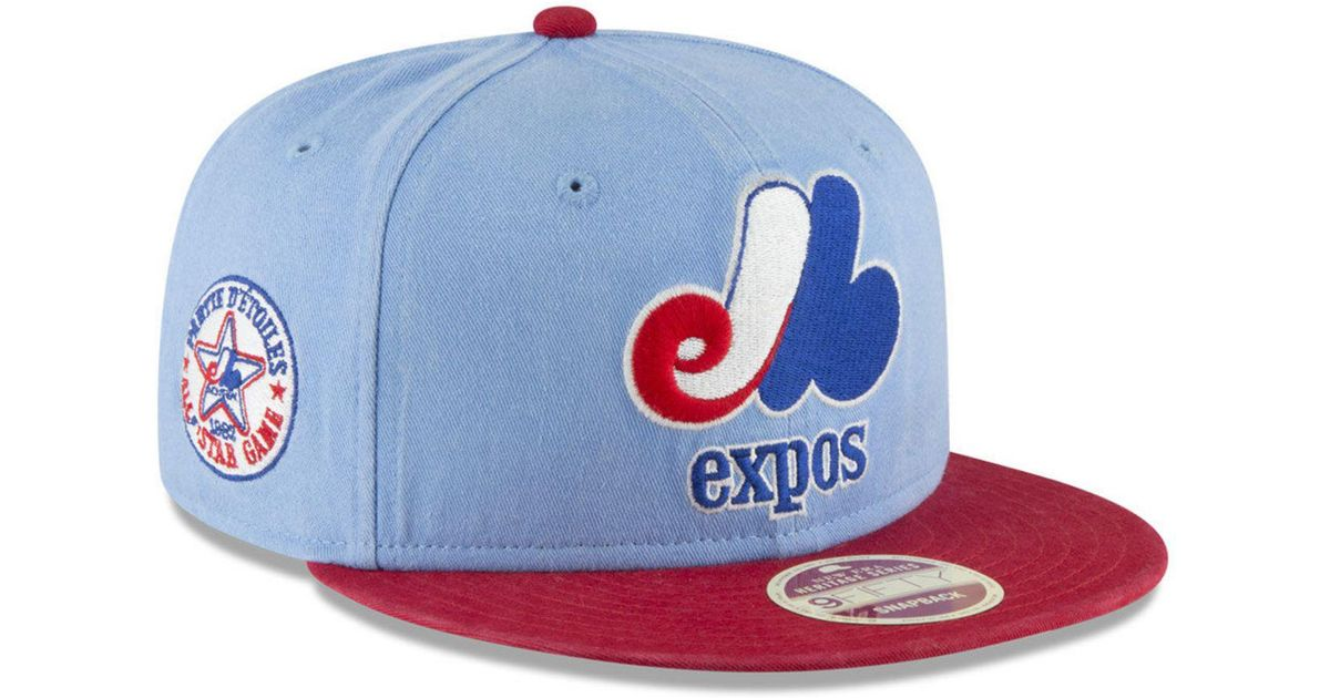 info for 36441 77bbc KTZ Montreal Expos All Star Injection 9fifty Snapback Cap in Blue for Men -  Lyst