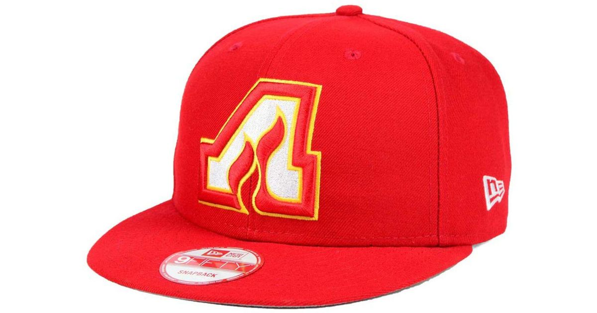 various colors 42f63 44efa KTZ Atlanta Flames All Day 9fifty Snapback Cap in Red for Men - Lyst