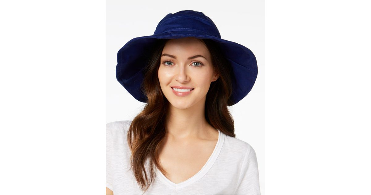 0923cbfb8 INC International Concepts - Blue Solid Floppy Hat, Created For Macy's -  Lyst