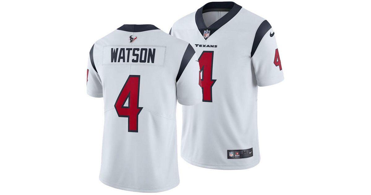 Nike White Deshaun Watson Houston Texans Vapor Untouchable Limited Jersey for men