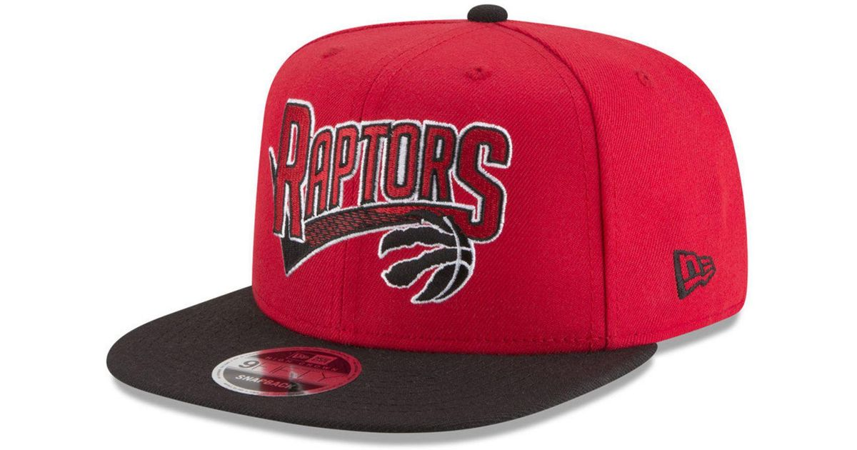 94924c5ed52bd ... order lyst ktz toronto raptors retro tail 9fifty snapback cap in red  for men 0c96f c3270