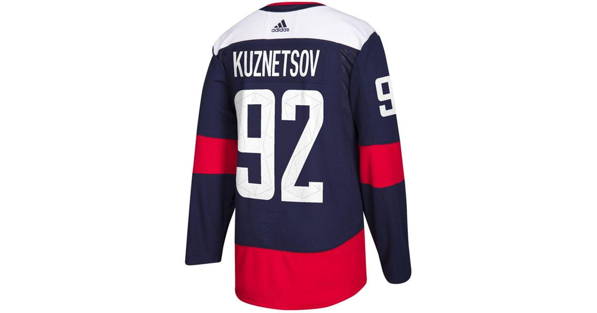 best website 3aa80 e31fe Adidas - Blue Evgeny Kuznetsov Washington Capitals Authentic Pro Stadium  Series Player Jersey for Men - Lyst