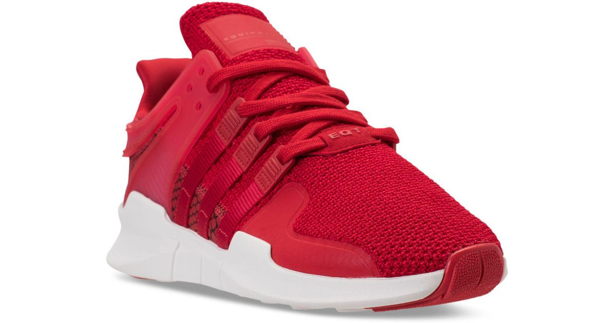 pretty nice 59e0d ac7c3 Adidas Red Men's Eqt Support Adv Casual Sneakers From Finish Line for men