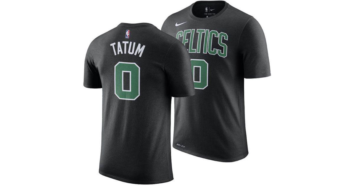 brand new 61208 2f666 Nike Black Jayson Tatum Boston Celtics Statement Player T-shirt for men