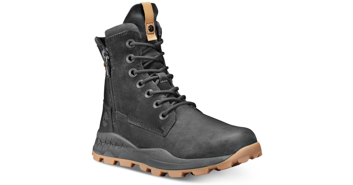 882dfd08eaa Timberland Black Brooklyn Side-zip Boots Created For Macy's for men