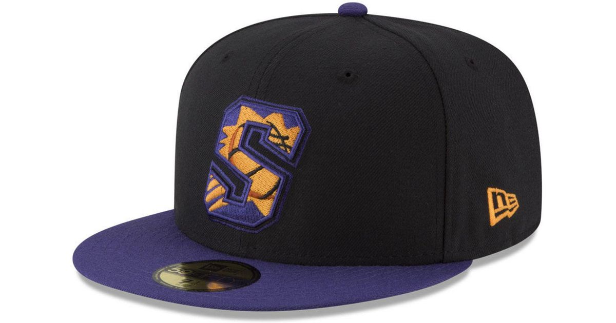 official photos a2845 00611 ... purchase lyst ktz phoenix suns dark city combo 59fifty fitted cap in  black for men f67a2