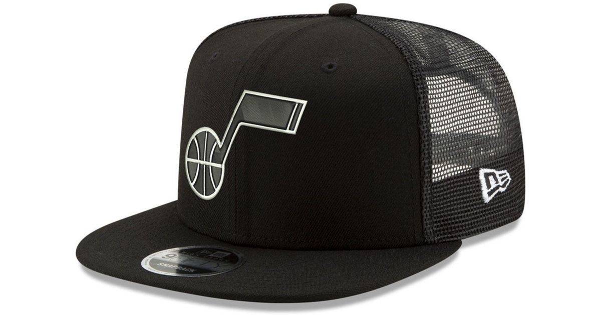 half off 343b0 0dbd0 Lyst - KTZ Utah Jazz Dub Fresh Trucker 9fifty Snapback Cap in Black for Men