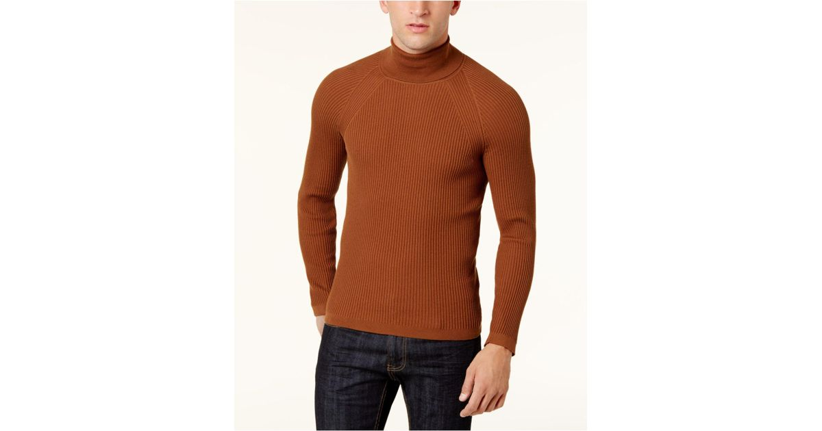 Lyst Inc International Concepts Mens Ribbed Turtleneck Sweater In