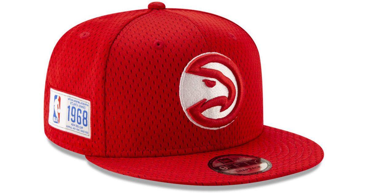 brand new d2b27 a3b5b Lyst - KTZ Atlanta Hawks Jock Tag 9fifty Snapback Cap in Red for Men