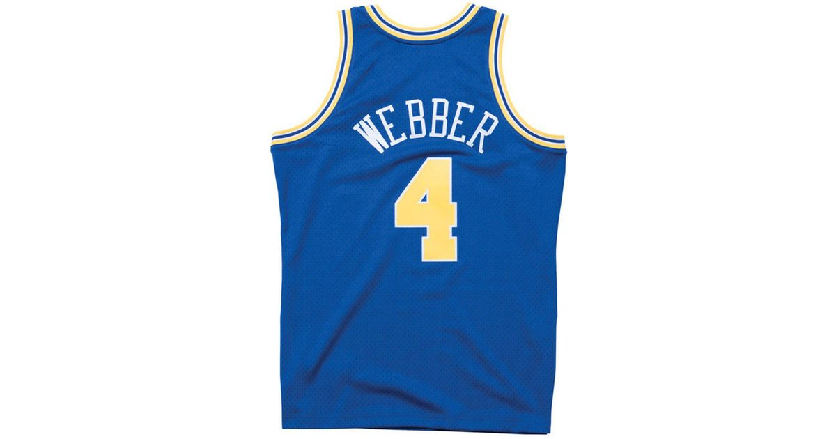 get cheap 32293 be015 Mitchell & Ness Blue Chris Webber Golden State Warriors Hardwood Classic  Swingman Jersey for men
