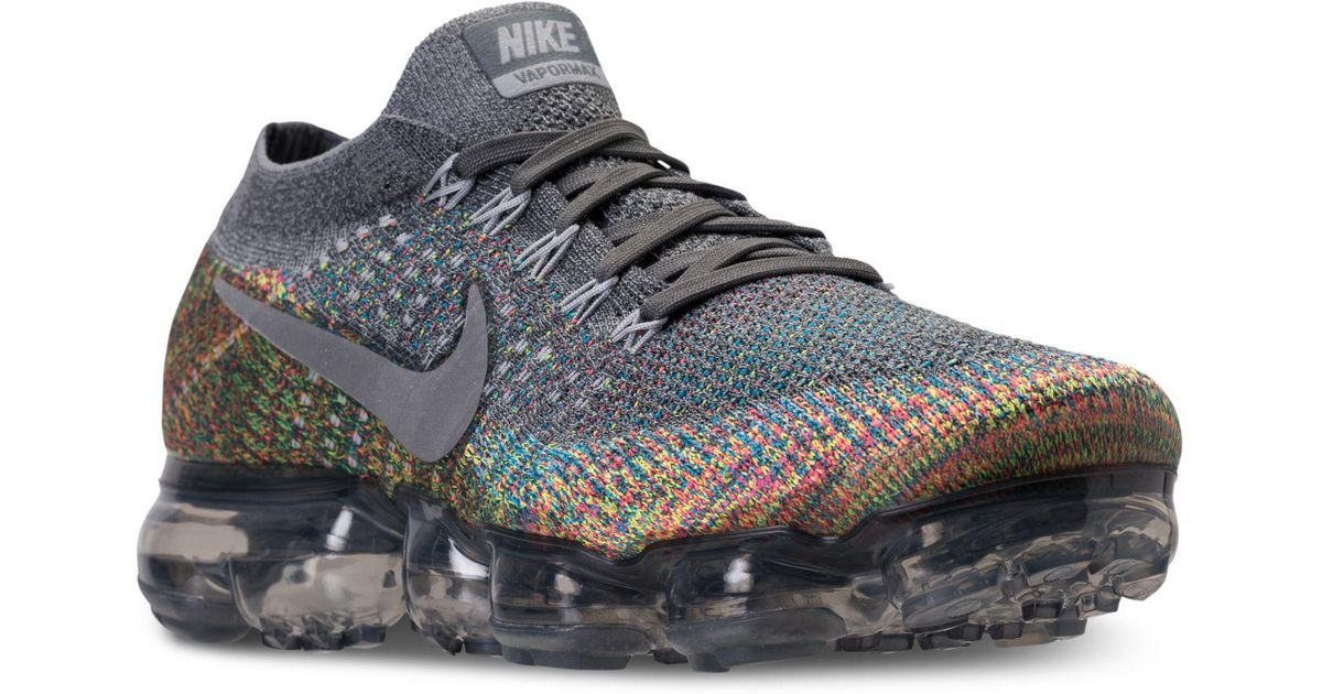 reputable site c62c5 a1eb1 Nike Gray Air Vapormax Flyknit Running Sneakers From Finish Line for men
