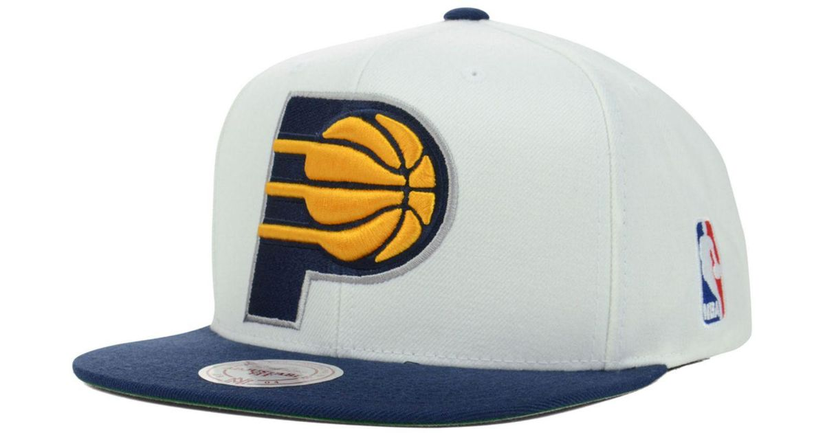 big sale 367c5 856e7 Lyst - Mitchell   Ness Indiana Pacers Xl Logo Snapback Cap in Blue for Men