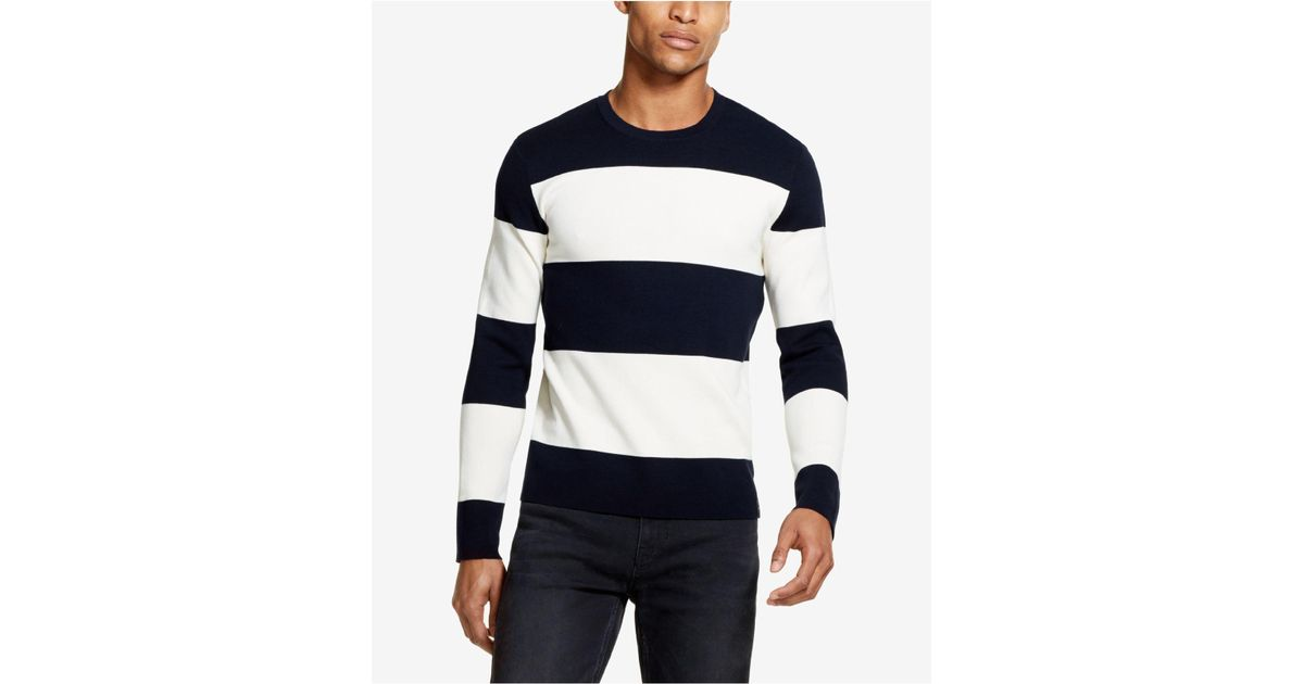 sports shoes 586a3 f4c47 DKNY Blue Large Striped Milano Sweater, Created For Macy's for men