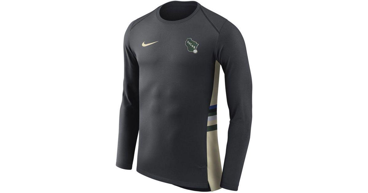 pretty nice 5050a 4f71f Nike Black Milwaukee Bucks City Edition Shooting Shirt for men