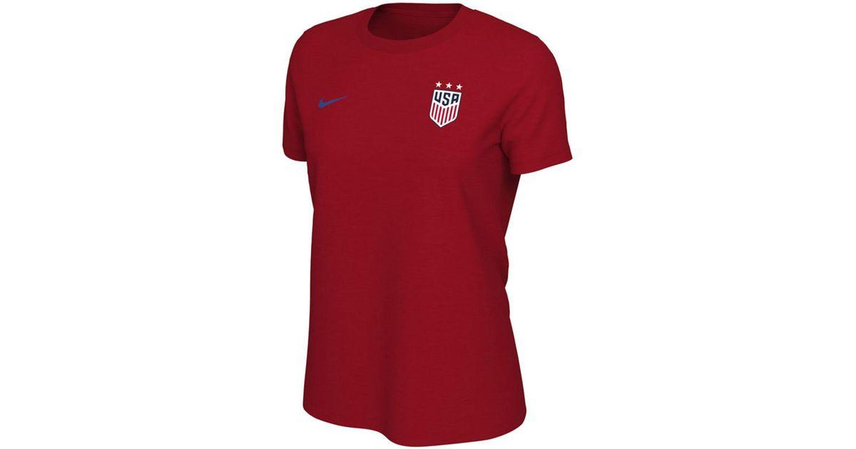 brand new cbdf7 65b39 Nike Red Tobin Heath Usa National Team Name And Number T-shirt
