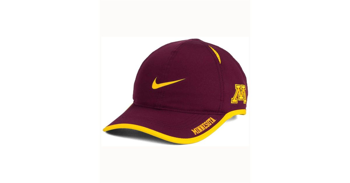 low priced 57ac8 409db ... official store lyst nike minnesota golden gophers featherlight cap in  purple for men 8c132 0e23b