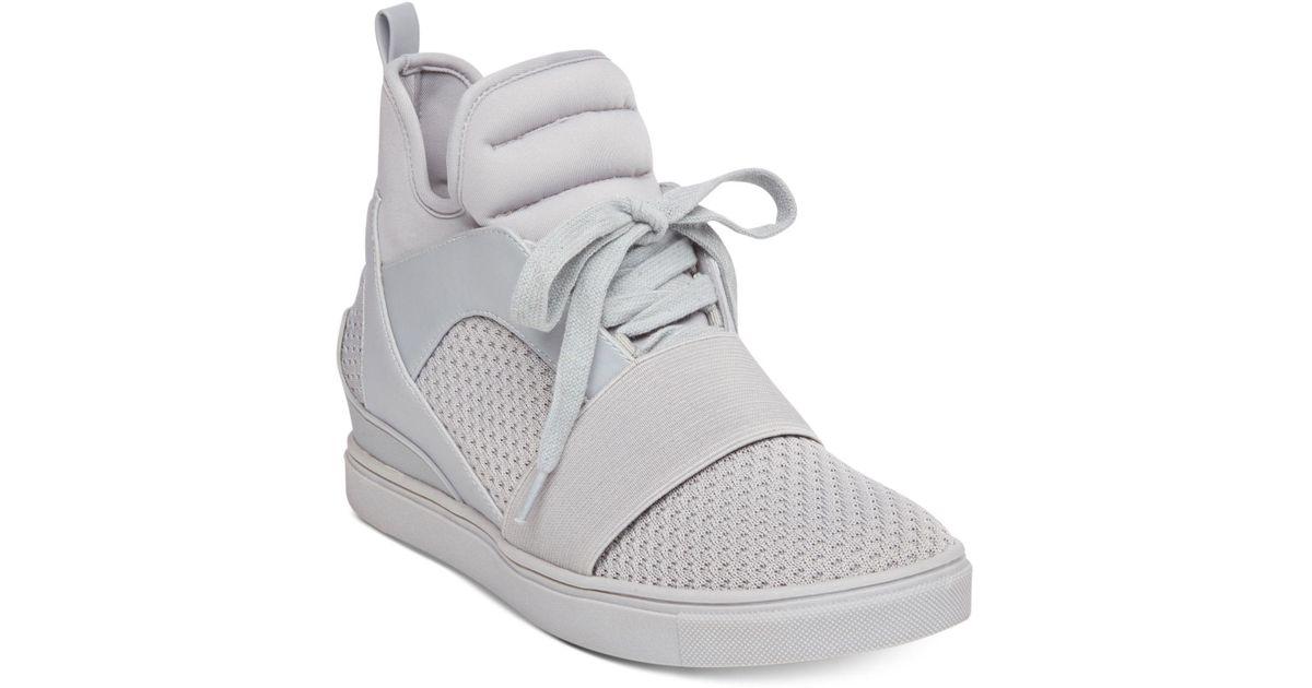 11206f56fb6 Steve Madden Gray Women's Lexi Flyknit Wedge Sneakers