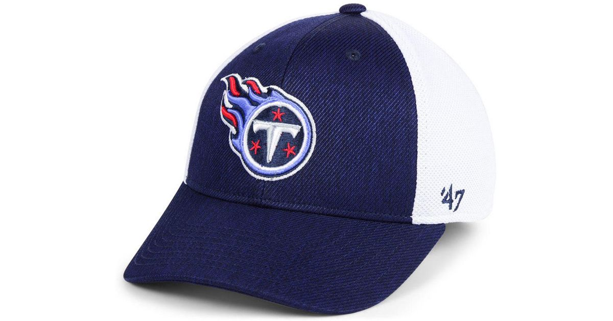 new concept d1ee2 52fee 47 Brand Tennessee Titans Hazy Flex Contender Stretch Fitted Cap in Blue  for Men - Lyst