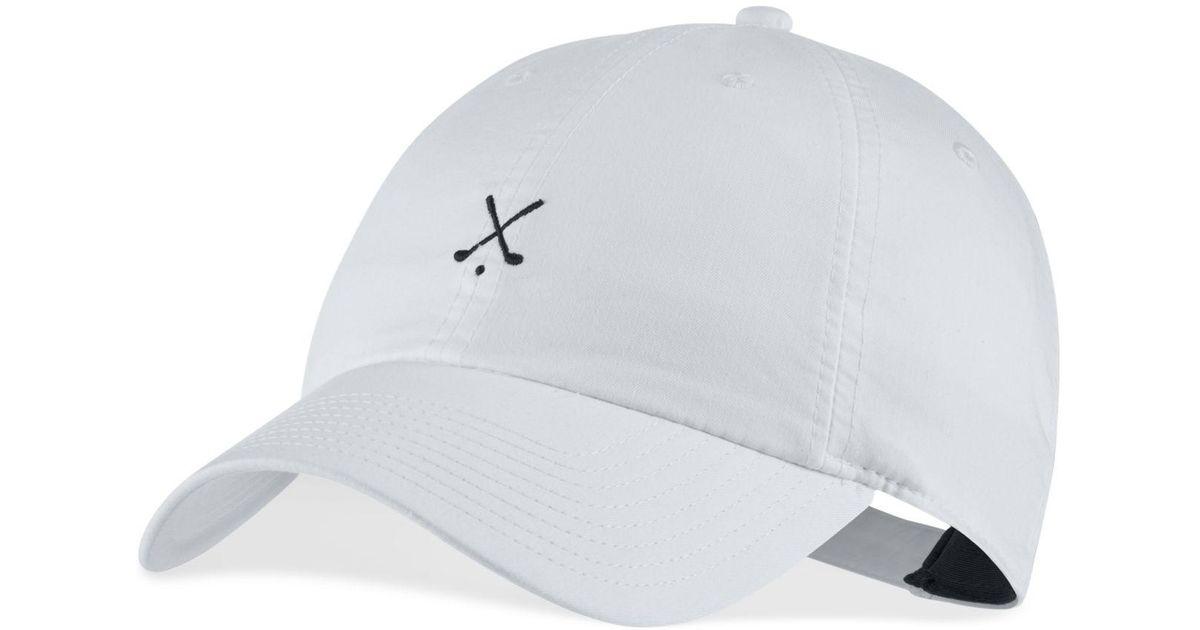 81f865efbfad2 Lyst - Nike Heritage86 Dri-fit Golf Hat in White for Men