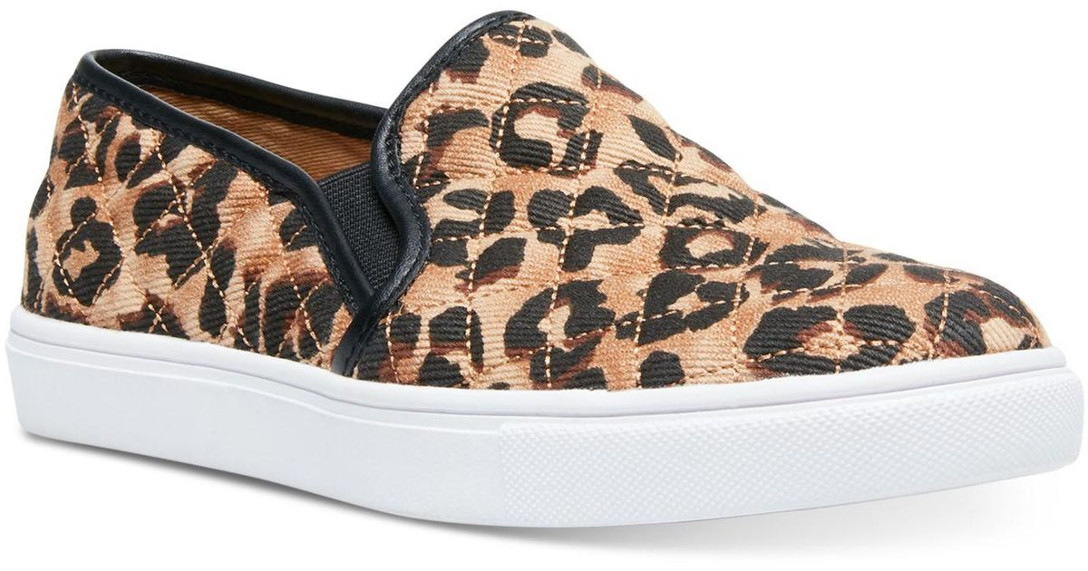 Ecentrcq Leopard Quilted Slip-on