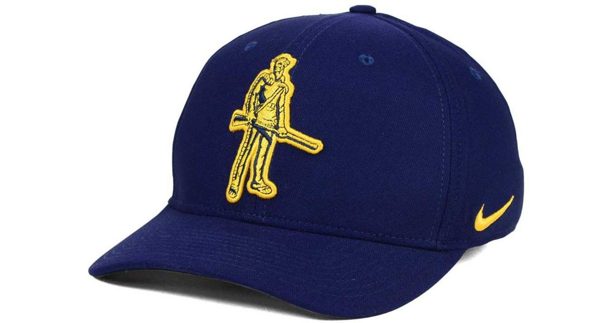 1c7e18670af9c ... get lyst nike west virginia mountaineers classic swoosh cap in blue for  men 98242 a8a6b