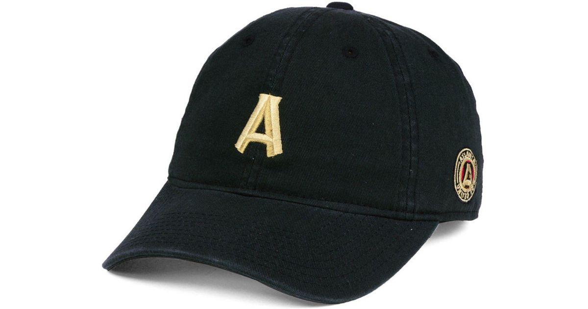 9192811ec47 Lyst - adidas Atlanta United Fc Partial Logo Dad Cap in Black for Men