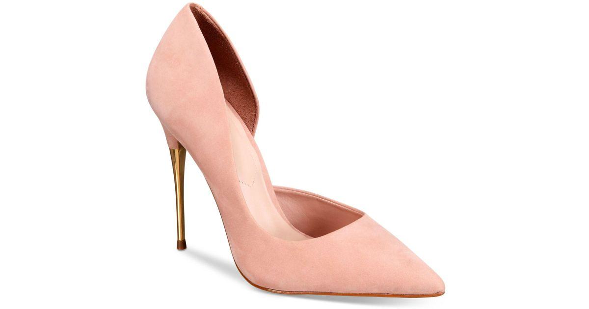 ALDO Leather Mccarr Pumps in Bone (Pink