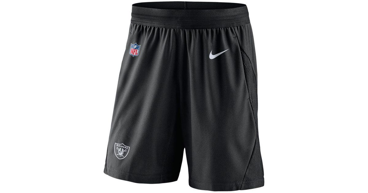 e5c54d55 Nike Oakland Raiders Fly Knit Shorts in Black for Men - Lyst