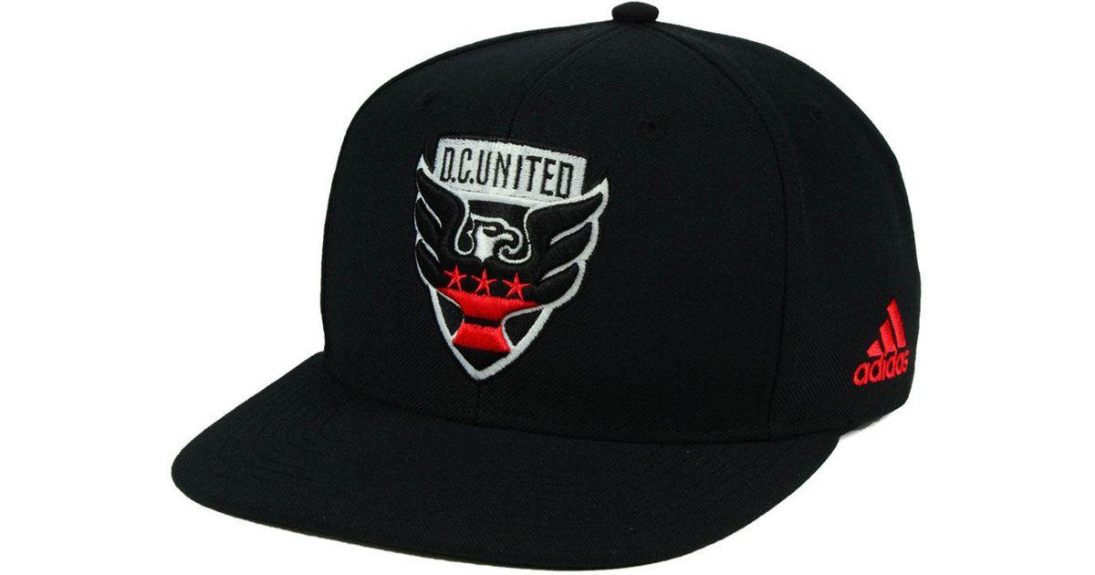 603fca7498c Lyst - adidas Dc United Poly Snapback Cap in Black for Men
