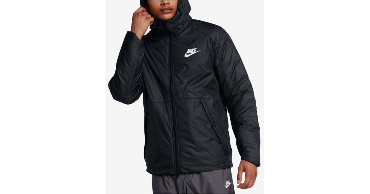 c2c5346163fc Lyst - Nike Men s Sportswear Insulated Rain Jacket in Black for Men