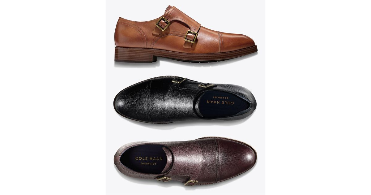 new & pre-owned designer los angeles professional website Cole Haan Brown Men's Henry Grand Double-monk Strap Oxfords for men