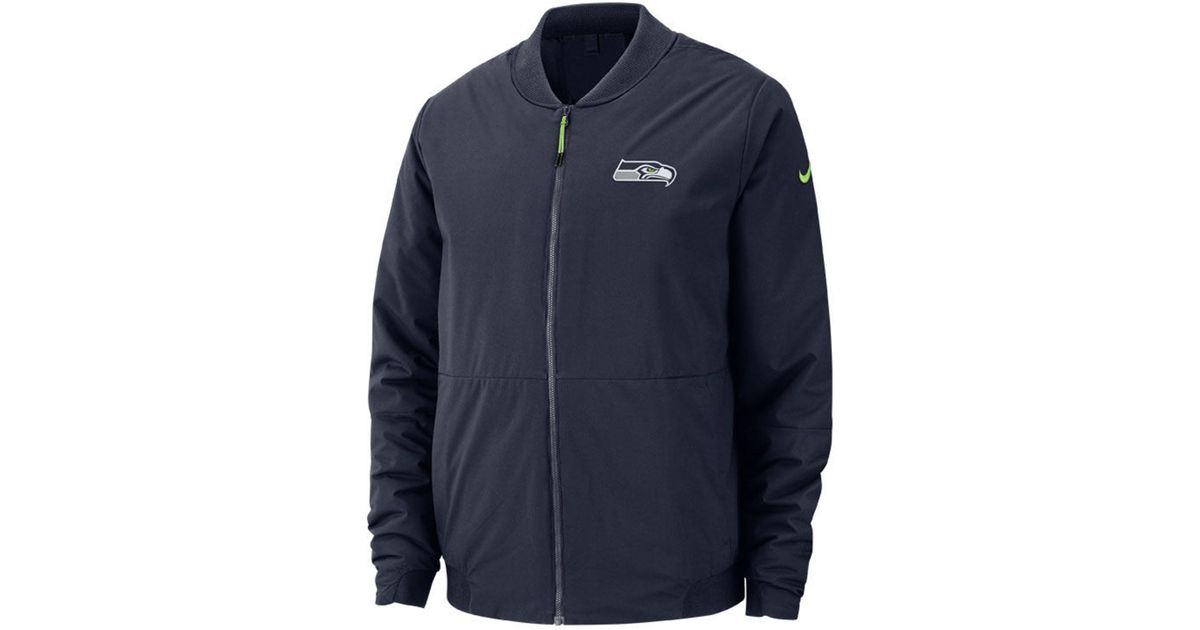 ba7d6856 Nike Blue Seattle Seahawks Bomber Jacket for men