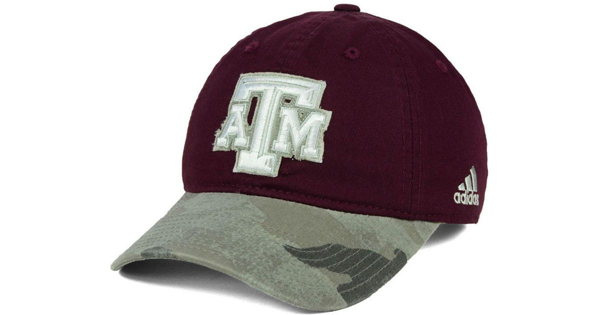 best sneakers 96b63 685aa Lyst - adidas Texas A m Aggies Camo Code Slouch Cap for Men