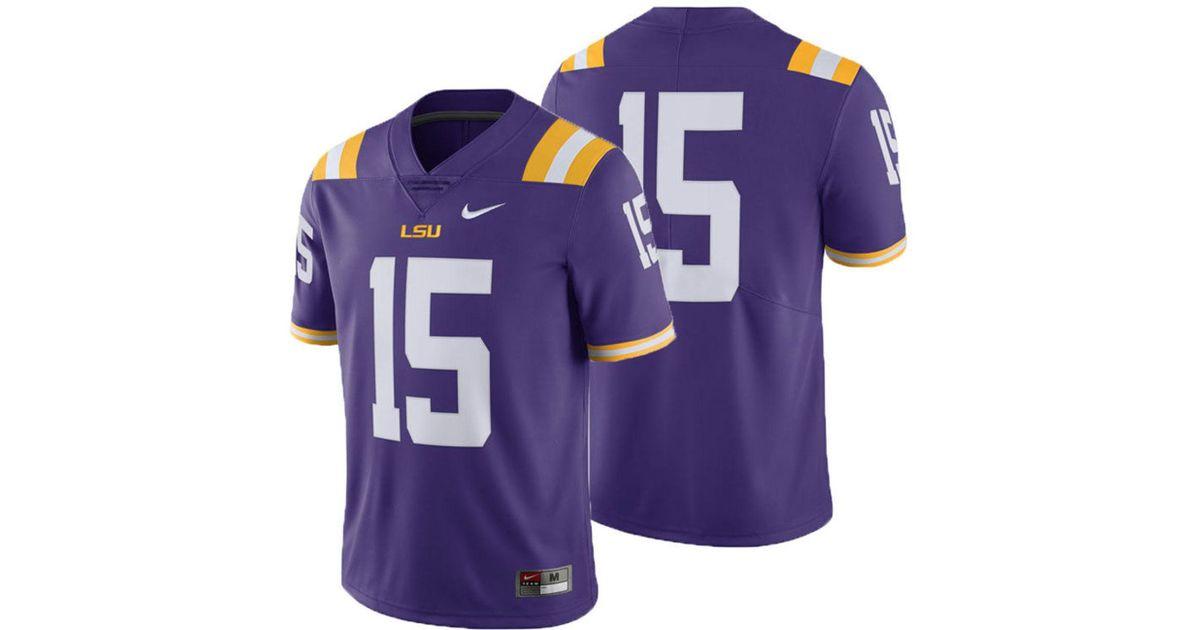 wholesale dealer 1aa53 910f8 Nike Purple Lsu Tigers Limited Football Jersey for men