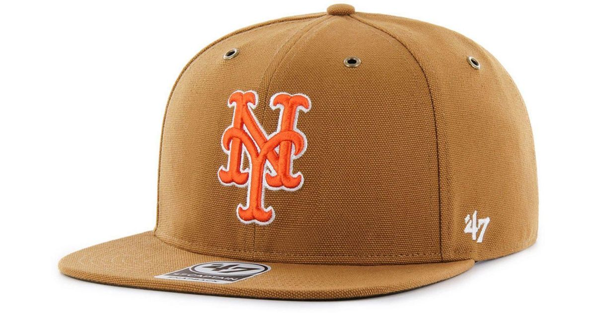 picked up new cheap high quality 47 Brand Cotton New York Mets Carhartt Captain Cap in Brown for ...