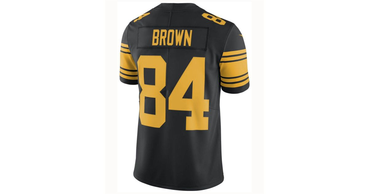 baeafe72 ... 50% off lyst nike antonio brown pittsburgh steelers limited color rush  jersey in black for