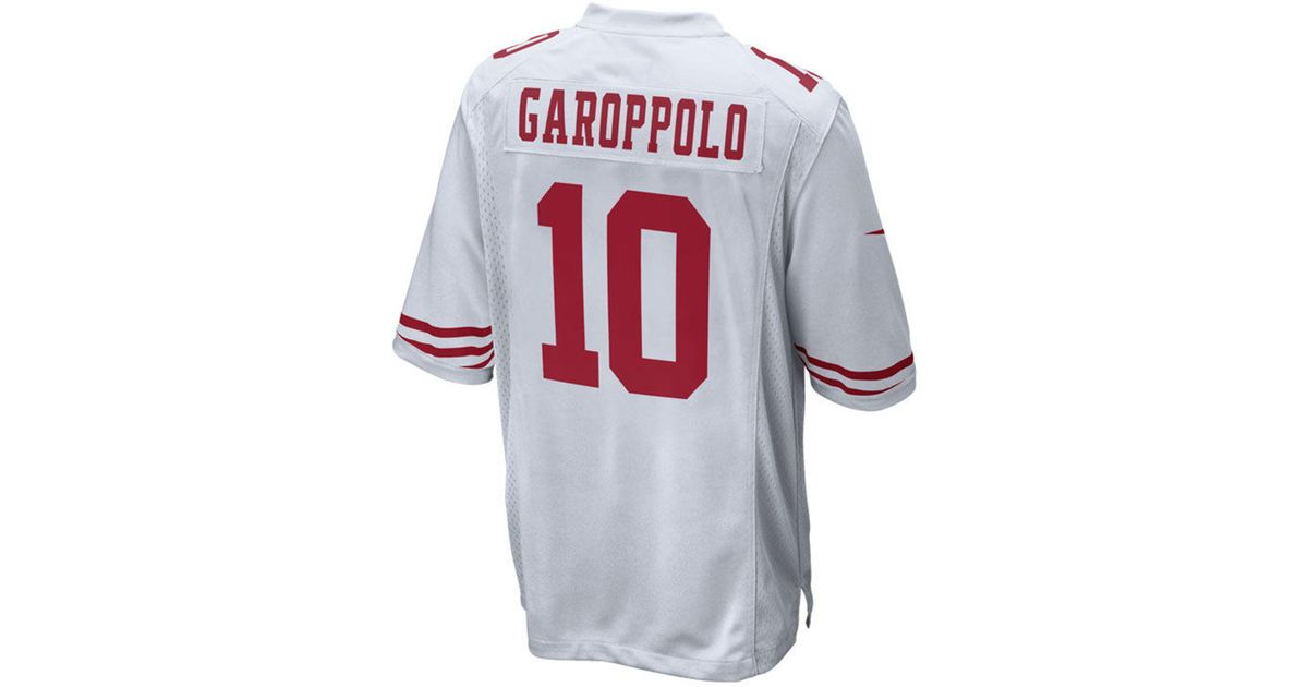 newest c85c2 2b7c5 Nike White Jimmy Garoppolo San Francisco 49ers Game Jersey for men