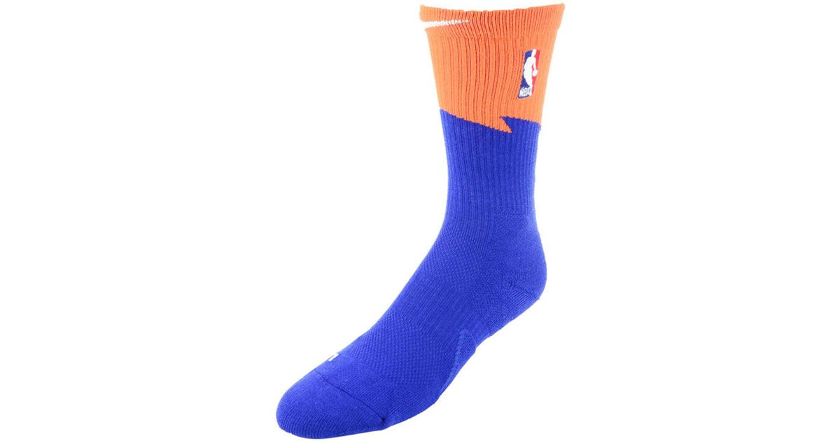 competitive price cc8fd 3ffe5 Nike Blue Cleveland Cavaliers City Edition Elite Crew Socks for men