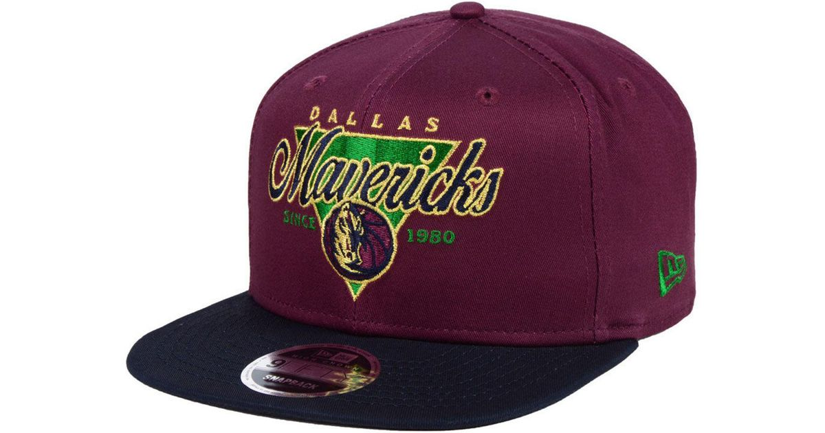 low priced 8ba6f ff9ab ... low price lyst ktz dallas mavericks 90s throwback 9fifty snapback cap  in purple for men dfb26