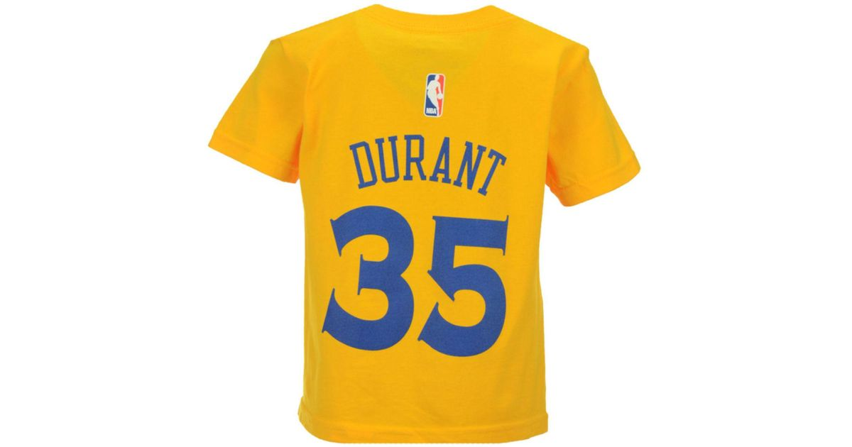save off ee301 ba3fa Adidas Originals Metallic Toddlers' Kevin Durant Golden State Warriors Name  And Number T-shirt for men