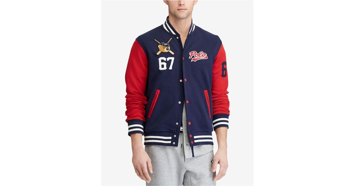 24dd0f680 Polo Ralph Lauren Blue Polo Bear Baseball Jacket, Created For Macy's for men